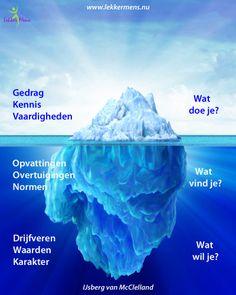 Het zichtbare ligt boven water. De oorzaak van ons gedrag onder water.